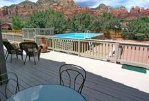 Sedona Vacation Home: AURORA / Super views of red rocks await from this 3 bedroom, 2 1/2 bath rental in West Sedona. Enjoy your own private pool, hot tub and large deck with spectacular views all day long! http://www.redrockrealty.net/aurora.html