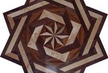 Double Square Floor Medallions / Hardwood Floor medallions of a unique style!