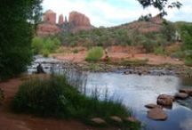 Sedona Vacation Home: CREEKSIDE COTTAGE / Sweet cottage under the trees, less than a minute walk from the waters of Oak Creek, hiking trails, swimming spots and memorable views of Cathedral Rock. Visit #Sedona a in private home. Call RED ROCK REALTY for rates and dates. 800-279-1945. See You Soon!