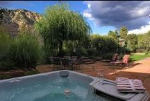 Sedona Vacation Home: TRANQUILITY / Peaceful outdoor space with private hot tub provide outstanding red rock views while lovingly decorated interiors comfortably accommodate up to six. Visit #Sedona in your own private vacation accommodations. Call RED ROCK REALTY at 800-279-1945 for rates and dates.  See You Soon!