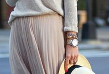 Extra Long Skirts / Maxi skirts have been around for a long time. Mix them with sweaters, leather jackets & booties to create a super stylish look this winter