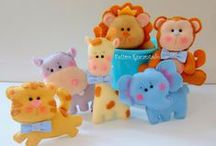 Jungle Creatures / All kind of jungle animal softies, ornaments and embellishments