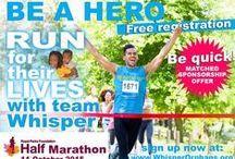 RPF Half Marathon 2015 / Whispers events to raise money and awareness