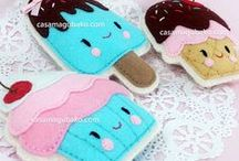 Felt Sweets / A collection of cupcakes, cookies and other sweet treats in felt.
