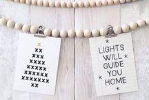 DIY - Kerstkaarten / Inspiratie voor zelfgemaakt kerstkaarten.