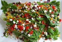 Salads! - Gourmet Recipe Exchange / It's all about salads! Vegetable salads, fruit salads, meat salads, pasta salads, cold salads, hot salads, frozen salads --- just salads! Share your favorite recipes!