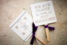 Dagprogramma voor bruiloft / Wedding programs - Bruiloft Dagprogramma's