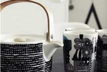 Time for Tea! / Scandinavian ceramics for celebrating the past time of tea and coffee drinking, stunning design such as taika by Iittala, teem, marimekko iconic tea pots and mugs, Sagaofrm, retro designs, Coffe presses from Stelton too. Everything for stylish tea and coffee drinking.