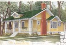 VinTagE HOUSE PlanS~Prior to 1920s / A house plan is a set of construction or working drawings (sometimes still called blueprints) that define all the construction specifications of a residential house such as dimensions, materials, layouts, installation methods and techniques. / by MR Geller