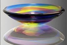 Regenboog glas / Rainbow glass / Glas in de kleuren van de regenboog