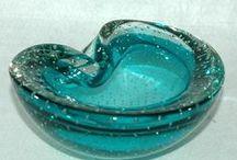 Murano Spijkerglas / controlled bubbles / Italiaans Spijkerglas / Italian glass