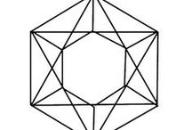 6 Hexagram / Hexagon / Hexangle / zeshoek /