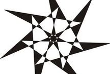 7 Heptagon / Heptangle / Heptagrid / Heptagram / Septagram / Septagon / zevenhoek