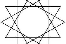 12 Dodecagram / Dodecagon / Dodecagoon / 12-hoek