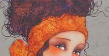 Corinne Reignier ~ Paintings