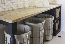Laundry Room / Home decor, laundry room hacks, laundry room tips and tricks, laundry room organization, inspiration.