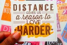LDR Love Quotes / Uplifting words and quotes that will give you hope and help you to hang on until the day your Long Distance Relationship comes to an end.