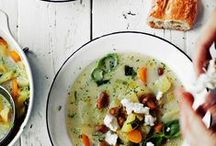 SOUPS + STEWS / A board full of soups + stews that are heartwarming and filling. Is it redundant to say super healthy and nutritious?