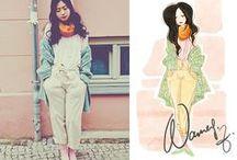 ❂   Schizzo ❂ / A moda em desenho .