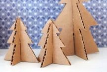 Christmas Creations / Christmas Creations which are made out of cardboard.
