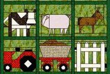 Quilt boerderij gerelateerd / Quilt boerderij