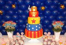 WONDER WOMAN PARTY / Wonder Woman Party. Festa Mulher Maravilha.