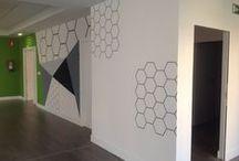 La jirafa - spaces / reformas e instalaciones en locales públicos desde la pintura
