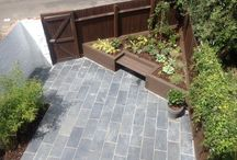 """London small garden / London garden, north facing, was transformed with a modern design. The brief included """"a hint of a Japanese garden""""."""