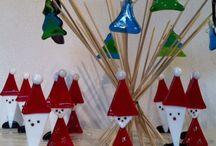 winter/kerst glasfusing / Winter/kerst ideeën van glas