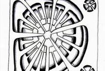 Zentangle / Орнаменты, зентанглы и прочие графичности