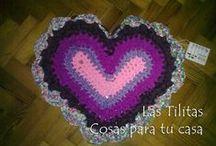 ♥ Alfombras Corazón ♥ / Alfombras hechas con Totora en forma de corazón, con colores variados... Podés elegir la combinación que más te agrade!