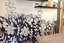 la jirafa walls / murales y repports pintados en pared