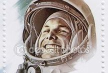 Stamps Russia Космос / Марки на тему космос