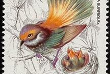 Stamps Фауна Птицы