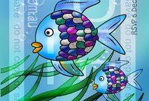 Rainbow Fish birthday ideas  / Rainbow fish birthday delights  #rainbowfish #underthesea #birthday