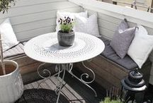 PERFECT BALCONY / Inspiration for a cute little balcony and hot spot on sunny summer days.