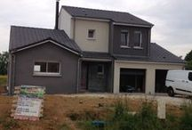Chantier Morville/Seille (54) / Maison à étage RT 2012 , grand volume en brique Homebric