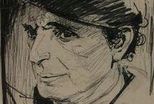 ΚΟΝΤΟΠΟΥΛΟΣ ΑΛΕΚΟΣ(1904 Λαμία-1975 Αθήνα) / Σπουδές,1923-1929 Σχολή Καλών Τεχνών στην Αθήνα,1930-1932 Παρίσι.Από το 1950 αναγνωρίζεται διεθνώς ως ένας από τους πρωτοπόρους της αφαιρετικής γραφής.Έχει χαρακτηριστεί από τους ιστορικούς τέχνης ως ''ποιητής ζωγράφος'' και ''ζωγράφος του νέου Ουμανισμού''γιατί πασχίζει μέσα από την τέχνη να βρει την χαμένη ισορροπία και να οδηγηθεί ξανά στις πηγές του μαγικού,που περιέχει ο άνθρωπος στην καρδιά του,στην βαθύτερη φύση του.