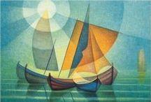 Toffoli / Ο Louis Toffoli ήταν ένας Γάλλος ζωγράφος, γνωστός για τα πολύχρωμα, κλασματικά έργα ζωγραφικής του σε σχήμα και τοπίο. Το έργο του Toffoli ασχολείται με τη διαφάνεια, συχνά σπάζοντας τις απρόσβλητες μορφές του σε διάφορα αλληλοεπικαλυπτόμενα μέρη για να διευκολύνει μια φανταστική, ονειρική εμφάνιση που αντιμετωπίζει την παροδική ποιότητα ζωής.Γεννημένος στις 16 Οκτωβρίου του 1907 στην Τεργέστη της Ιταλίας, ο καλλιτέχνης πέρασε την πρώιμη ζωή του στην Ιταλία.