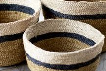 Wanderlust // Baskets / Beautiful ethnic baskets and woven vessels