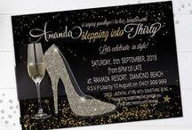 Adult Birthday Invitations / Birthday invitations and party invitations, adult males and females