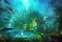 Underwater imaginary worlds