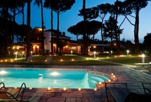 Villa di Roma, Rome, Italy / We love Villa di Roma's delightful gardens, all lit up at night, and its tranquil yet convenient location. What a luxurious way to experience the beautiful city of Rome.