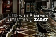 Sleep with Jetsetter, Eat with Zagat / We've teamed up with Zagat to bring you the perfect pairing: Zagat's recommendations for where eat around town and top Jetsetter hotels (with an extra 10% off). / by Jetsetter