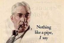 Pipe & Tobacco Advertising / #pipe, #tobacco, #smoking, #advertising, #pipesmoking
