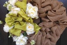 Spring Wreaths / Burlap Spring Wreaths.  A great way to welcome the change of seasons and Easter.