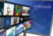 Digital Signage Software / Mit der Digital Signage Software meovis können Bildschirme zeitgesteuert mit multimedialen Inhalten versorgt werden. Die standortunabhängige Pflege erfolgt zentral über die Digital Signage Software. Zahlreiche Zusatzmodule wie Raumbuchungssystem erweitern das Basissystem zu einem digitalen Leitsystem. Ebenfalls ist der Aufbau einer interaktiven Präsentation / interaktiv Digital Signage für Bildschirme mit Touchscreen ohne Programmierkenntnisse möglich.