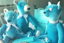Tiffany & Co. GSBears collection / Teddy Bears, by GSBears, inspired on the Tiffany & Co jewelry blue colour