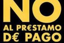 """Protesta contra el """"canon en bibliotecas"""" (2014) / Este tablero reúne carteles y logos relativos a la protesta contra el conocido comúnmente como """"canon bibliotecario"""", establecido en España en 2007, y compuesto por las aportaciones de distintas personas e instituciones. Puedes seguirlo en Twitter con el hashtag #NoAlCanon"""