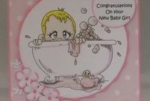 Handcrafted Greetings Card - New Baby Girl #BabyGirl
